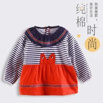 婴幼儿男女宝宝罩衣儿童长袖纯棉反穿衣幼儿园吃饭衣防水防污