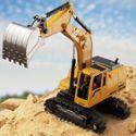 遥控挖掘机合金遥控挖土机儿童玩具电动工程车男孩模型汽车钩勾机