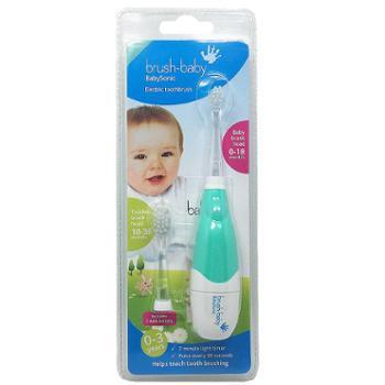 brush baby儿童声波电动牙刷软毛宝宝婴儿乳牙训练0-3岁