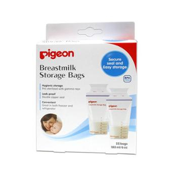 贝亲母乳储存袋保鲜袋储奶袋180ml 奶水存储袋存奶袋一次性25片装