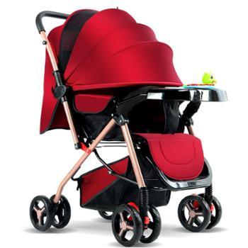 豪威婴儿手推车超轻便携双向可坐躺夏季宝宝伞车折叠避震bb四轮儿童车