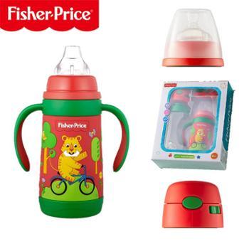 FISHER-PRICE/费雪宝宝婴儿吸管杯保温鸭嘴杯奶嘴保暖瓶不锈钢幼儿童学饮杯水壶