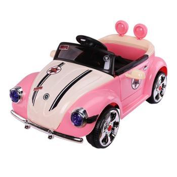 贝儿佳儿童电动四轮车公主汽车可坐人1-3岁宝宝带遥控女孩娃娃可坐玩具