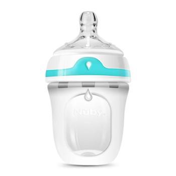 Nuby/努比 婴儿硅胶奶瓶 宝宝防胀气宽口径防摔硅胶奶瓶