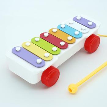 Happytime/快乐年华 八音手敲琴婴儿玩具0-1岁木琴打击乐器宝宝音乐玩具
