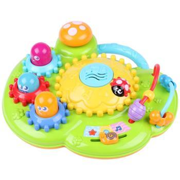 winfun/英纷 转转花园6-18个月宝宝益智早教音乐灯光婴幼儿打地鼠齿轮玩具