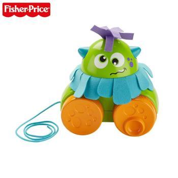 FISHER-PRICE/费雪 小怪兽学步拖拖乐宝宝拉绳学步玩具车儿童牵引玩具