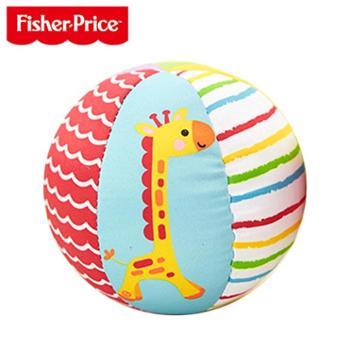 FISHER-PRICE/费雪 宝宝动物认知球摇铃球类玩具婴儿童手抓球布球铃铛