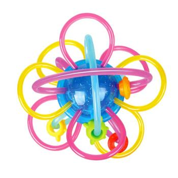 HUILE TOYS/汇乐玩具 新生婴儿宝宝益智手抓球牙胶摇铃曼哈顿球玩具