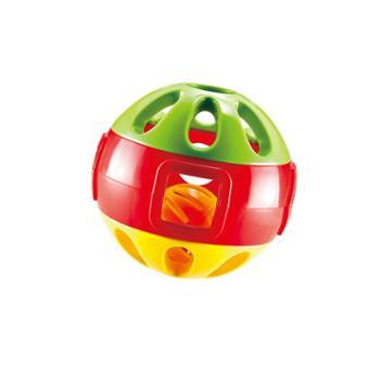 Auby/澳贝 响铃滚滚球宝宝手抓球玩具铃铛球抓玩具婴儿球亲子互动玩具