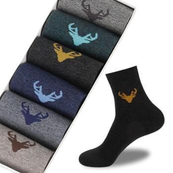 浪莎 袜子男士中筒袜抗菌防臭商务男袜春秋季薄款吸汗透气潮