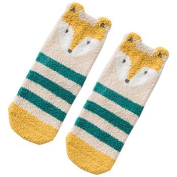 CARAMELLA 婴儿地板袜男儿童毛巾袜婴幼儿女加厚宝宝保暖中筒袜子冬季