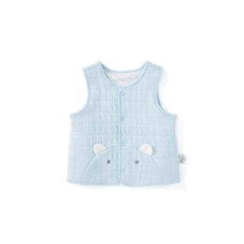 巴拉巴拉婴儿背心马甲男童宝宝坎肩新生儿秋装女新款夹棉上衣