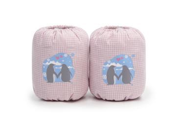 全爱宝贝婴幼儿童短款卡通袖套春秋冬可爱护袖防污套袖1双