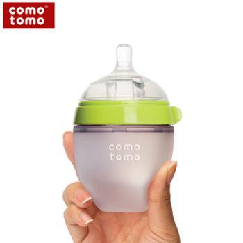 COMO TOMO 可么多么仿母乳宽口径宝宝厌奶断奶硅胶耐摔防胀气奶瓶150ml