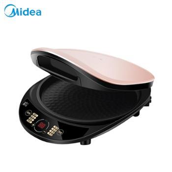 美的煎烤机电饼铛煎饼双面环形加热烙饼机家用自动断电可丽饼机煎蛋器厨房用具生活用品
