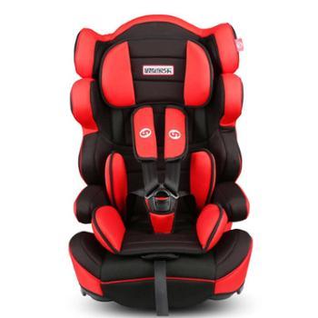 路途乐汽车儿童安全座椅9个月-12岁ISOFIX婴儿宝宝车载座椅熊[A]酷酷黑