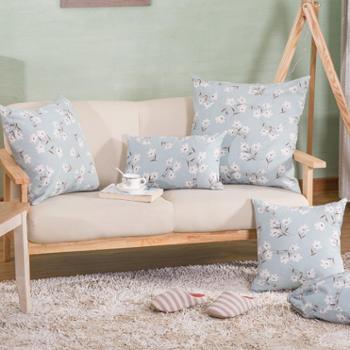 春季新款 时尚田园风小花朵沙发靠垫 清新抱枕 靠包(含芯)