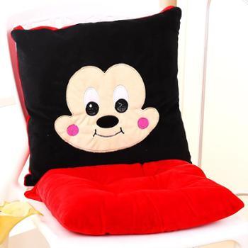 一朵家居学生冬季椅子垫加厚毛绒办公室连体餐椅垫卡通座垫