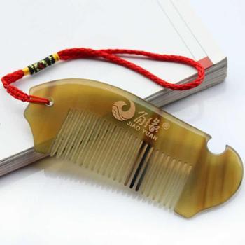 角缘正品 天然白角梳 牛角梳子 防脱发、断发 健康防静电 小巧型