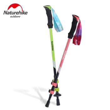 NH 专业外锁登山杖 超轻7075航空铝合金海绵手柄户外手杖伸缩拐杖