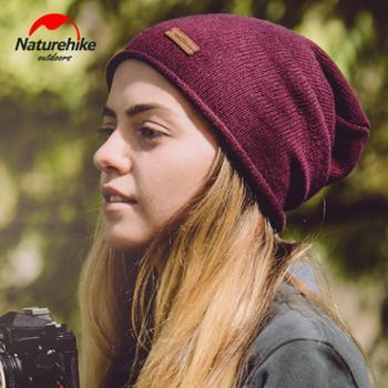 NH挪客户外保暖羊毛比尼针织帽男女韩版时尚毛线帽秋冬保暖运动帽