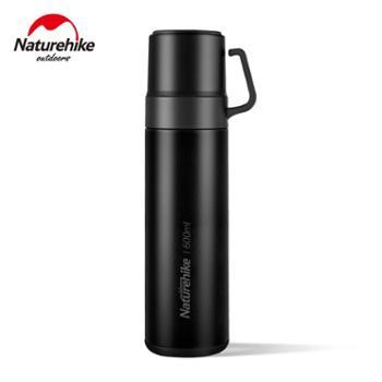 NH挪客3in1保温杯三合一户外保温水壶带水杯600ml大容量便携保温