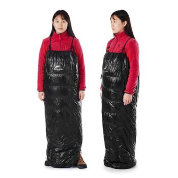 NH挪客户外露营半胸背带式羽绒睡袋迷你超轻徒步登山成人鸭绒睡袋