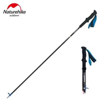NH挪客碳纤维登山杖四节折叠碳素超轻徒步越野手杖行山杖