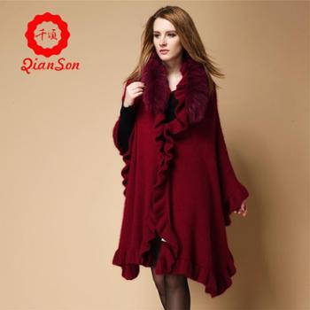 新款时尚 貂绒面料 唯美女士大衣