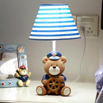 布丁爱生活小熊船长台灯卧室床头灯温馨调光创意卡通儿童可爱男生学生礼物009