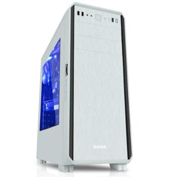 sama先马 塔里克 侧透明游戏机箱下置电源台式电脑大主机箱 背线ATX-001