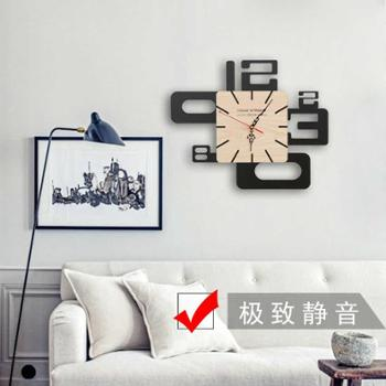 时钟表大号创意挂钟客厅抽象艺术静音个性简约现代挂表独特时尚