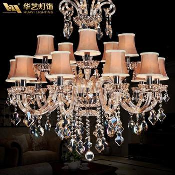 华艺灯饰现代奢华水晶灯吊灯现代皇族系列客厅灯餐厅灯DD22