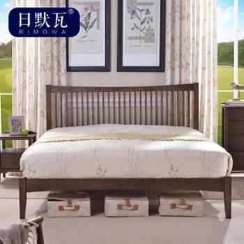 日默瓦 纯实木双人床 简约现代 橡木床 美式床卧室家具 1.5米MC02