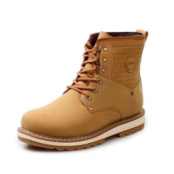 nowising冬季保暖马丁靴男真皮英伦男靴子男短靴工装男士高帮男鞋