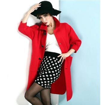 斯卡琳貂绒大衣女 时尚韩版毛衣开衫外套 加厚中长款秋冬外套风衣