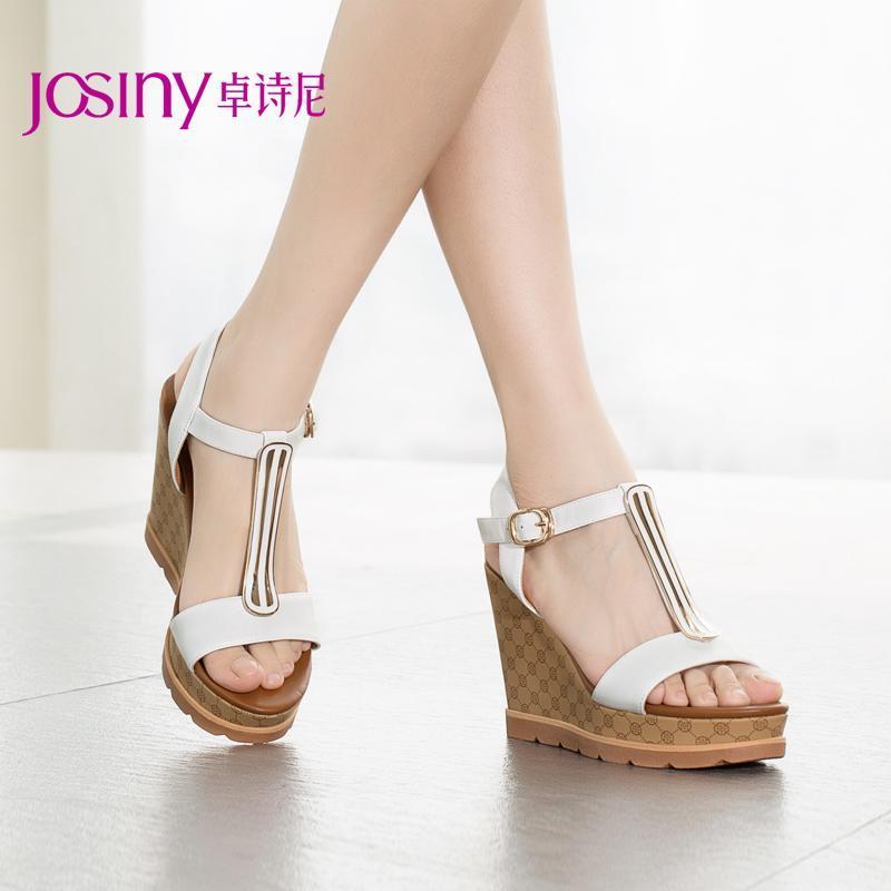 卓诗尼2015凉鞋夏季新款欧美女鞋高跟凉鞋女