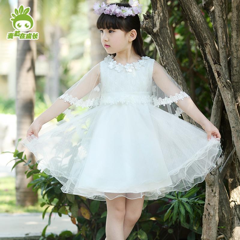 儿童公主裙子蕾丝蓬蓬裙纱裙女童