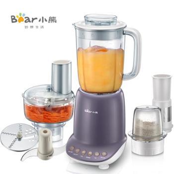 Bear/小熊 LLJ-A12G1 料理机多功能豆浆果汁机搅拌绞肉机切丝切片 全国联保