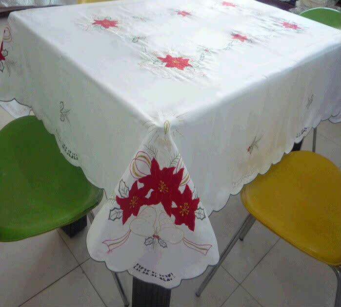 丰彩之佳高档欧式奢华刺绣桌布圣诞红茶几布盖布