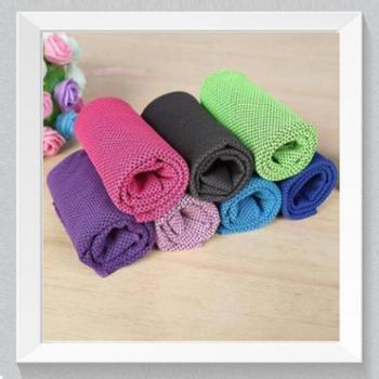 户外运动神器冷感毛巾降温冰凉巾一甩就凉毛巾冰感凉巾冰巾(30*89cm)