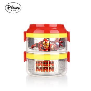 【迪士尼(Disney)】双层注水饭盒MCD-HJP191 钢铁侠系列加热保温饭盒