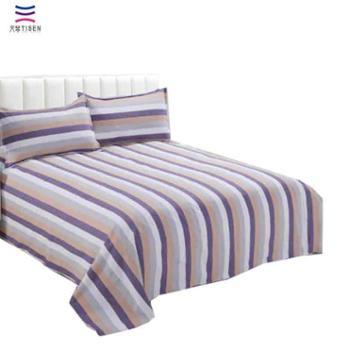 【天琴家纺】 特织色织老粗布床单三件套双人条纹床单套件TQ-S15 花色随机