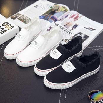 韩版套脚帆布鞋新款防滑女式平跟流苏女鞋子KRT-695