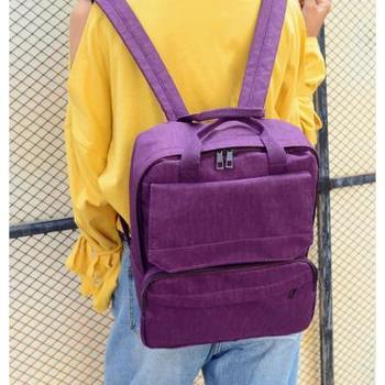 英菲米兰帆布双肩包女包韩版潮高中学生书包旅行背包校园学院风 LYF-8650
