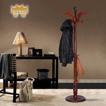 金帕实木衣帽架落地卧室挂衣架(门厅)