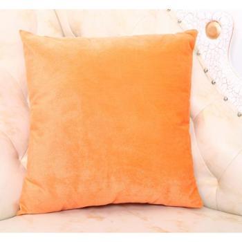 新款 置家 天鹅绒沙发抱枕 素色 纯色靠垫套 椅子坐垫靠腰枕含芯