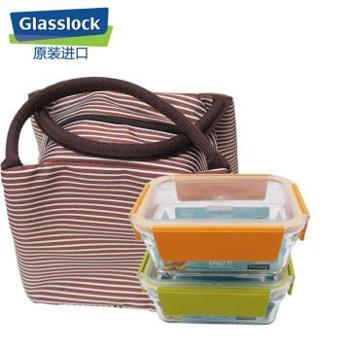 Glasslock韩国进口玻璃饭盒保鲜盒2件套可拆卸盖