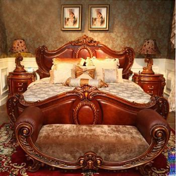 逸邦全实木床美式乡村床奢华双人床卧室公主床1.51.8米大床